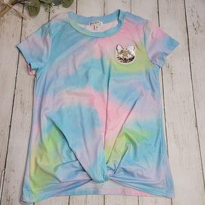 LOVE GLAM GIRL GIRLS Pastel Tie Dye Top